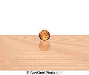 3d basketball isolated on a white