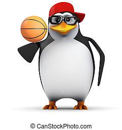 3d Basketball penguin