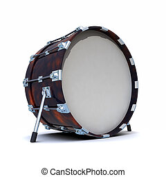 3d Bass drum - 3d render of a bass drum