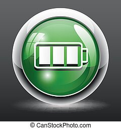 3D Battery icon button