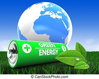 3d battery with earth