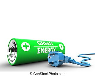 3d battery with power cable