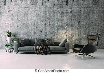 3d beautiful interior render setup