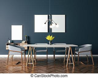 3d beautiful interior render