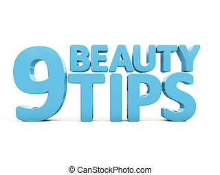 3d Beauty tips - Beauty tips con on a white background. 3D...