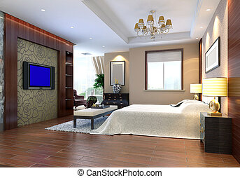 3d bedroom rendering