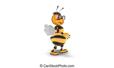 3D Bee Character - Fun Animation with Alpha Looped