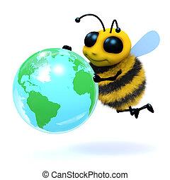 3d Bee globe