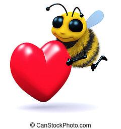 3d Bee romantic