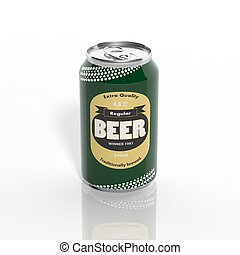 3D Beer  can isolated on white