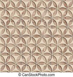 3d Beige Seamless Abstract Geometric Pattern