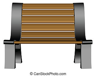 3d bench against white background, abstract vector art illustration