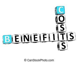 3D Benefits Costs Crossword