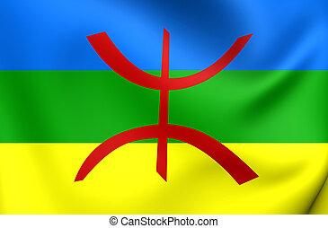 Berber Flag - 3D Berber Flag. Close Up.