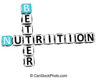 3D Better Nutrition Crossword