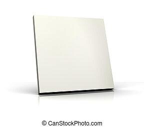 3d, bianco, vuoto, isolato, asse