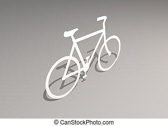3d, bicicleta