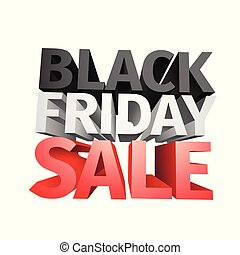 3D big friday sale text isolated on white background . Vector illustration .