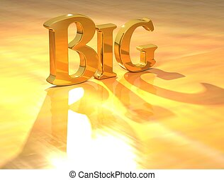 3D Big Gold text