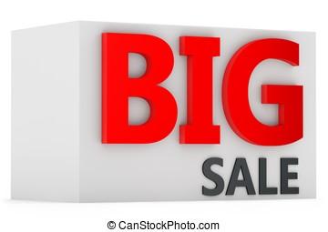 3d  big sale sign
