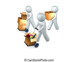 3d, bild, begrifflich, \'we, ar, moving\'
