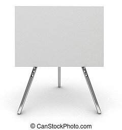 3d billboard isolated on white. - 3d billboard sign isolated...