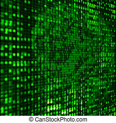 3D binary code background