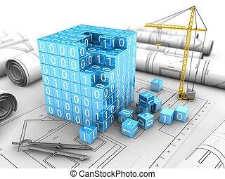 3d binary cube