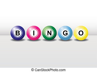 3D bingo balls with different colors and each ball has the shadow. Easy to edit, manipulate or resize.