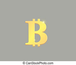 3D bitcoin currency symbol vector