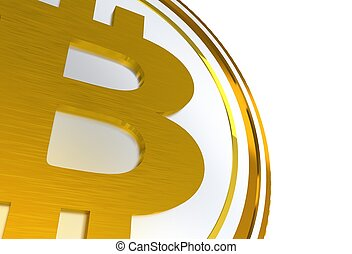 3D Bitcoin Symbol Isolated