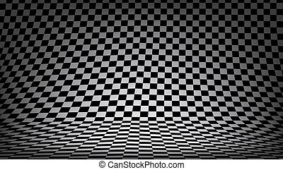 3D Black And White Checkered Texture Background