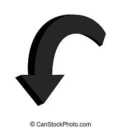 3D black arrow