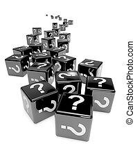 3d Black mystery dice