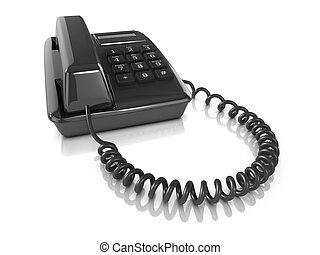 3d Black telephone