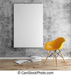 3d, blanco, marco