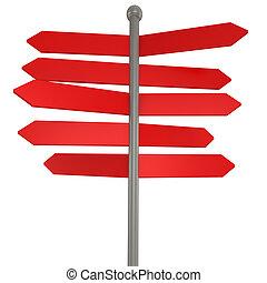 3d blank arrow sign