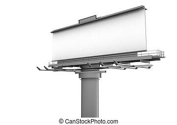 3d blank billboard
