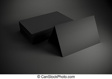 3d blank black business cards 3d blank black business cards reheart Images