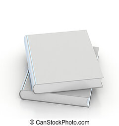 3d Blank book cover over white background