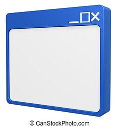 blank browser symbol