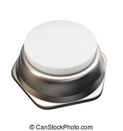 3d blank button isolated on white