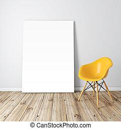 3d blank frame