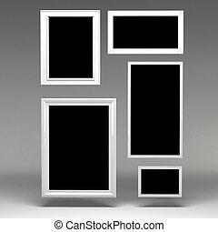 3d blank frames