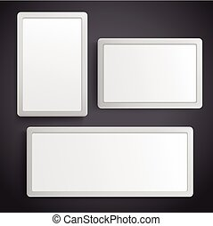 Vector 3d Blank Tool Box Template Isolated On White Background