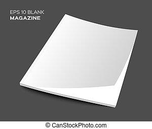 blank magazine or brochure