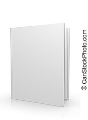 3d Blank Open Book Cover Isolated On White