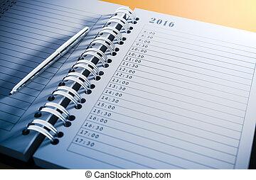 3d blank personal agenda