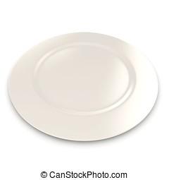 3d blank plate