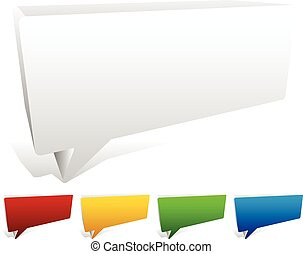 3D Blank Speech / Talk Bubbles 3D Blank Speech / Talk Bubbles